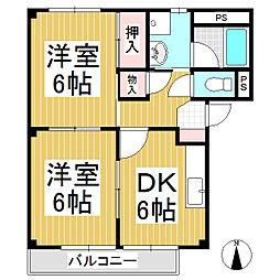 長野県千曲市大字屋代の賃貸アパートの間取り