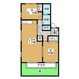 フレグランス藤塚 A棟[1階]の間取り