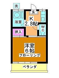 第一田辺コーポ[106号室]の間取り