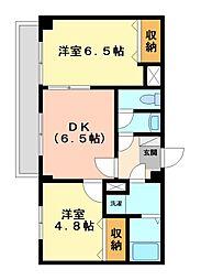 神奈川県川崎市宮前区宮崎3丁目の賃貸マンションの間取り