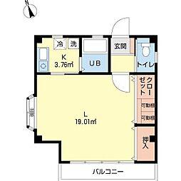 田尻アパート[3F号室]の間取り