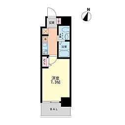 セレニテ神戸元町[0603号室]の間取り