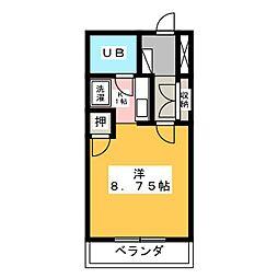 ハイツ久後崎[2階]の間取り