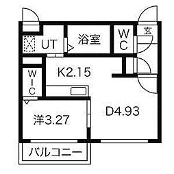 Msena麻生[4階]の間取り