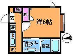 東京都調布市多摩川3の賃貸アパートの間取り