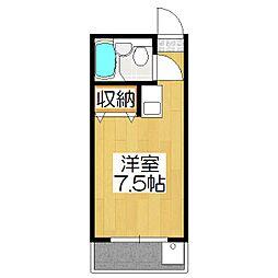 りぶ京都北大路[401号室]の間取り