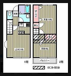 [テラスハウス] 神奈川県藤沢市石川3丁目 の賃貸【神奈川県 / 藤沢市】の間取り