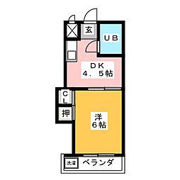 コーポJUN[2階]の間取り