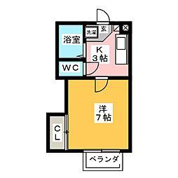 ラウンドルーフ[2階]の間取り