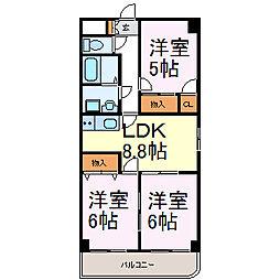NK六番[8階]の間取り