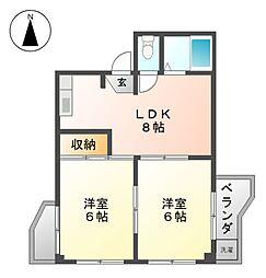 栄ファイブマンション[5階]の間取り