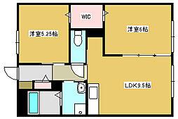 兵庫県加古郡播磨町本荘1丁目の賃貸アパートの間取り