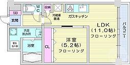 フィオーレ・梅田町 2階1LDKの間取り