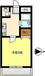 千鶴ハイツ[3階]の間取り