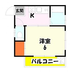 東京都足立区谷在家2丁目の賃貸アパートの間取り