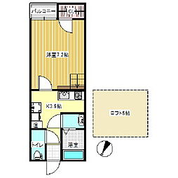 紫竹山五番館[A101号室]の間取り