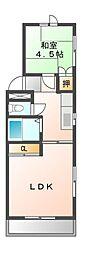 八千代台パーソナルハウスパート11[2階]の間取り