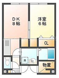 プラザインN14B棟[3階]の間取り