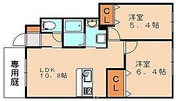 ソレイユ2[1階]の間取り