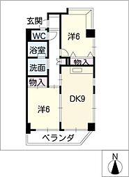 パラッツオ・ダンケ[8階]の間取り