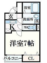 阪急神戸本線 王子公園駅 徒歩12分の賃貸マンション 1階1Kの間取り