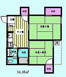 マンション小幡[202号室]の間取り
