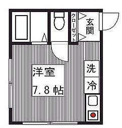 東京都大田区東矢口2丁目の賃貸アパートの間取り