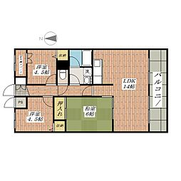 メゾン・ド・オール[3階]の間取り