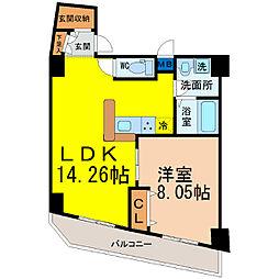 愛知県名古屋市東区豊前町2丁目の賃貸マンションの間取り