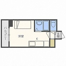 家具家電付スカイハイツ[3階]の間取り