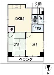 シャルム恵 A〜Dタイプ[4階]の間取り