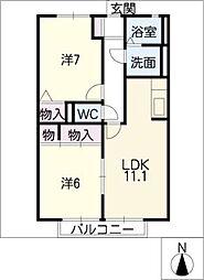 ウィステリア21[1階]の間取り