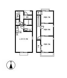 [テラスハウス] 愛知県稲沢市小池3丁目 の賃貸【/】の間取り