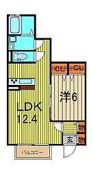 サークルレイ喜沢[1階]の間取り