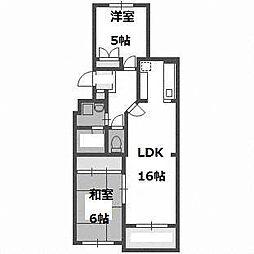シャテロ菊水元町[5階]の間取り