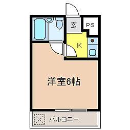 ハイツタキタニI[1階]の間取り