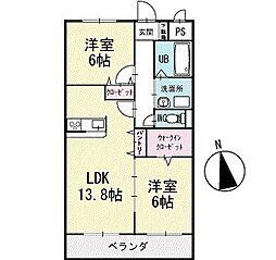 ルナパーク 3階[302号室]の間取り