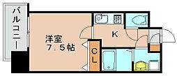 エンクレスト博多駅前3[9階]の間取り