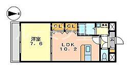 兵庫県神戸市垂水区桃山台5丁目の賃貸マンションの間取り