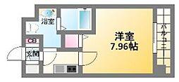 大阪府大阪市浪速区日本橋3丁目の賃貸マンションの間取り