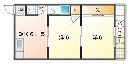 エスポワール上神田[2階]の間取り