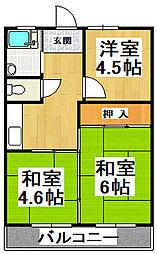 小田第一マンション[203号室]の間取り