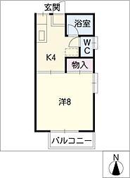 コーポビースカ[1階]の間取り