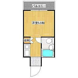大阪府守口市緑町の賃貸マンションの間取り