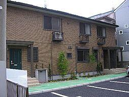 茨城県水戸市姫子2丁目の賃貸アパートの外観