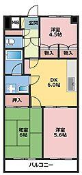 神奈川県川崎市幸区南加瀬4丁目の賃貸マンションの間取り