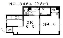 天川ビル[305号室号室]の間取り
