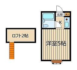埼玉県入間郡三芳町大字藤久保の賃貸アパートの間取り
