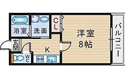 カリーノ清風[103号室]の間取り