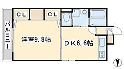 コスモス小倉駅前II[703号室]の間取り